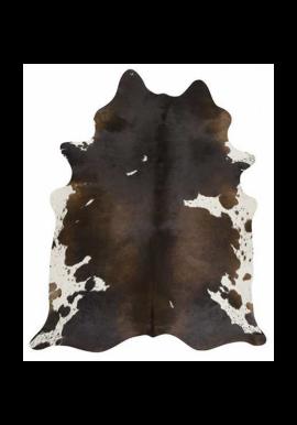 FCR-5 Cow Rug - Dark Brown & White